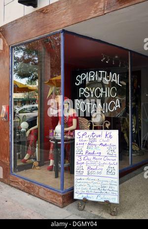 The Spiritual Psychic Botanica on Hollywood Boulevard in Hollywood Florida - Stock Photo