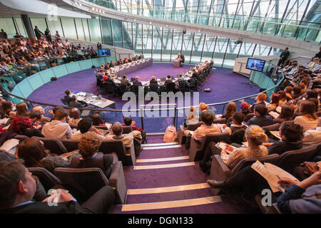 London. 23 October 2013. Mayor of London Boris Johnson faces questions from members of the London Assembly at City - Stock Photo