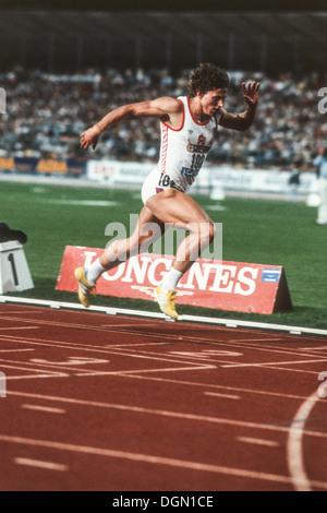 Jarmila Kratochvilova (CZE) competing in Zurich in 1982. - Stock Photo