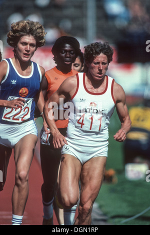 Jarmila Kratochvilova (CZE) competing in the 1983 World Athletics Championships. - Stock Photo