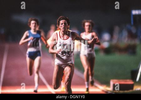 Jarmila Kratochvilova (CZE) competing in Rome in 1985. - Stock Photo