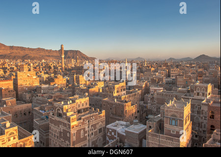 Panorama of Sanaa, Yemen - Stock Photo