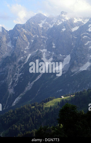 Berchtesgaden, Germany, looking towards the mountains High Goell - Stock Photo