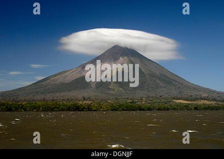 Volcano Mt. Concepcion, Isla de Ometepe, Nicaragua, Central America - Stock Photo