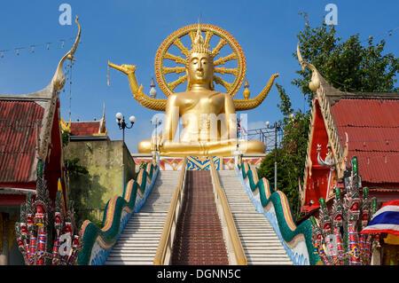 Big Buddha statue at the temple in Ban Bo Phut, Ko Samui island, Thailand, Asia