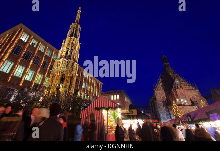 Nürnberg Weihnachtsmarkt - Nuremberg christmas market 06 - Stock Photo