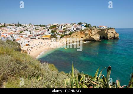 Beach of Carvoeiro, Algarve, Portugal, Europe - Stock Photo
