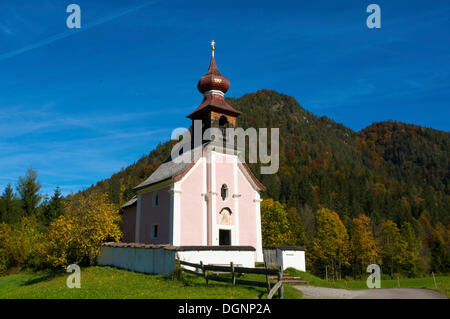 Antoni Chapel in Au near Lofer, Pinzgau region in Salzburger Land, Austria, Europe - Stock Photo