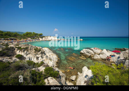 Portokali Beach, Kavourotypes, Sithonia, Chalkidiki, Greece - Stock Photo