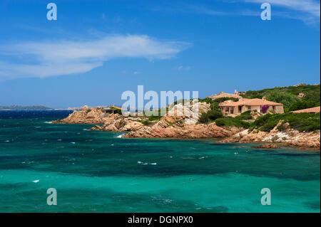 Oceanfront villa, La Maddalena, Sardinia, Italy - Stock Photo