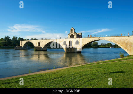Pont Saint-Benezet bridge over the Rhone, Avignon, Provence, Region Provence-Alpes-Côte d'Azur, France - Stock Photo