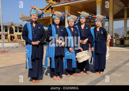 Pa-O, or Pao, Shan State, Inle Lake, Myanmar, Burma, Southeast Asia, Asia - Stock Photo