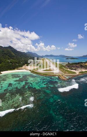 International airport of Mahe, Seychelles, Africa, Indian Ocean - Stock Photo