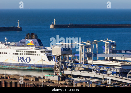 England, Kent, Dover, Dover Port - Stock Photo
