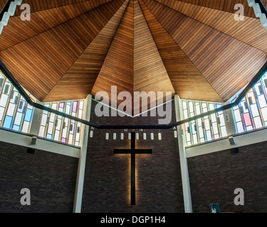 Guildford United Reformed Church, Guildford, United Kingdom. Architect: Unknown, 1967. - Stock Photo
