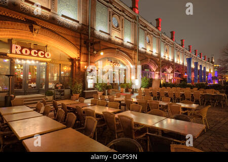 Restaurant at the S-Bahn station Hackescher Markt, Berlin - Stock Photo
