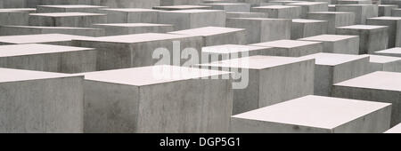 Holocaust Memorial or Memorial to the Murdered Jews of Europe, Berlin - Stock Photo