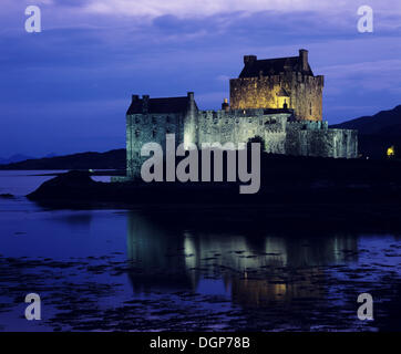 Eilean Donan Castle near Dornie, Western Ross, Loch Alsh, Highlands, Scotland, United Kingdom, Europe - Stock Photo