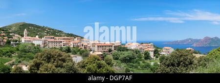 Piana, Gulf of Porto, Corsica, France, Europe - Stock Photo