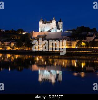 Château de Saumur, Pays de la Loire, department of Maine et Loire, France, Europe - Stock Photo