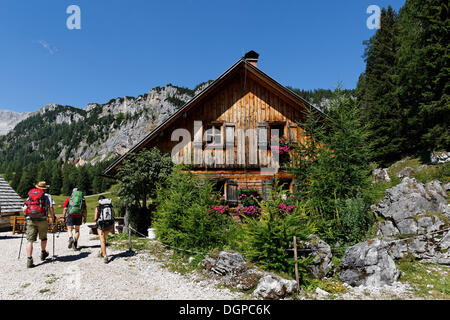 Alpine cabin on the Wurzeralm alp, Spital am Pyhrn, Pyhrn-Priel, Traunviertel region, Upper Austria, Austria, Europe - Stock Photo