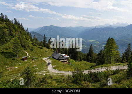 Katrin-Alm alp, Katergebirge mountains near Bad Ischl, in the valley of Bad Goisern, Salzkammergut resort area - Stock Photo