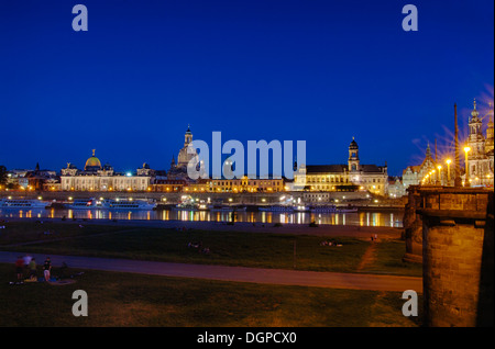 Dresden at night - Stock Photo