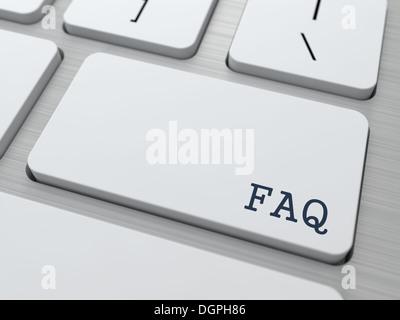 FAQ Concept. - Stock Photo