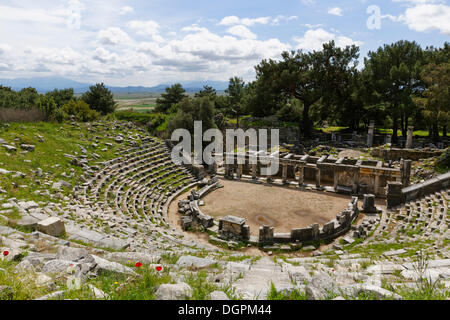 Theatre of Priene, Priene, Güllübahçe, Aydin province, Aegean region, Turkey - Stock Photo