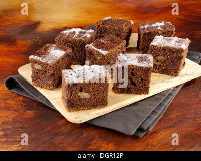 Pumpkin brownies - Stock Photo
