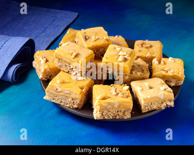 Pumpkin butterscotch bars - Stock Photo