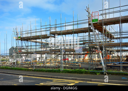 New affordable homes being built in Camborne, Cornwall, UK - Stock Photo