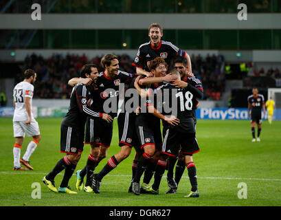 Leverkusen, Germany . 23rd Oct, 2013. , Football, Soccer, UEFA Champions League , 3. Spieltag, Matchday 3 , Bayer - Stock Photo