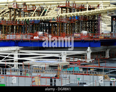 Heavy work,La Canopee,commercial center of Forum des Halles,in old Paris,France - Stock Photo