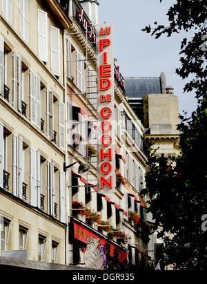 Famous restaurant Au Pied de Cochon,les Halles,in old Paris,France - Stock Photo