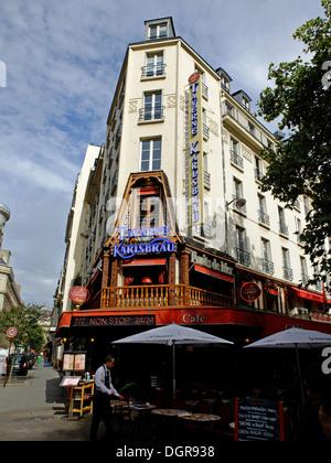 Famous restaurant Taverne Karlsbrau,les Halles,in old Paris,France - Stock Photo