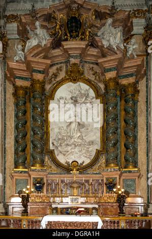 Side Altar, Church of St Ignatio di Loyola, Rome, Lazio, Italy - Stock Photo