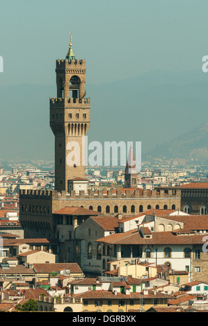 Palazzo Vecchio, Florence, Tuscany, Italy - Stock Photo