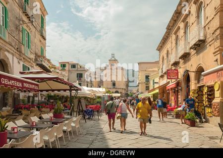 Street Scene in Tropea, Calabria, Italy - Stock Photo