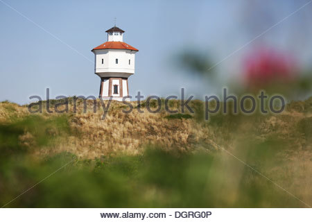 Germany, Lower Saxony, East Frisia, Langeoog, water tower - Stock Photo