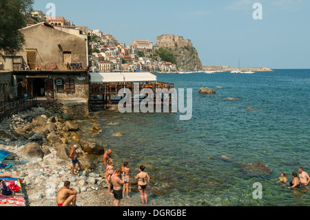 Rocky Beach at Scilla, Calabria, Italy - Stock Photo