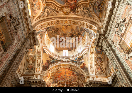 Ceiling Art in the Cathedral, Palermo, Sicily, Italy - Stock Photo