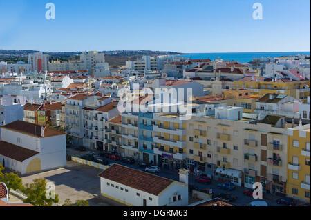 High-rise development with condominiums and apartments, many vacant due to the economic crisis, Armação de Pêra, Faro