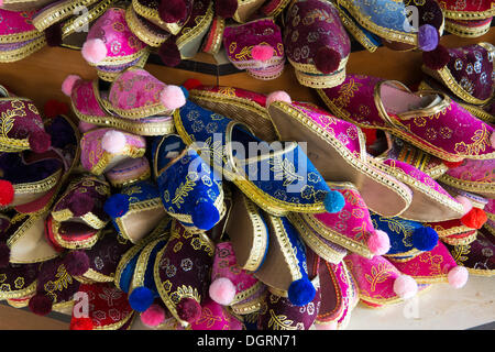 Slippers on sale as souvenirs, in the village of Sirince, Selçuk, Antalya, Turkey, Asia, Selçuk, Unterein, Antalya - Stock Photo