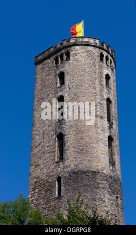 Old Powder Tower, Hannoversch Münden, Lower Saxony, Germany - Stock Photo