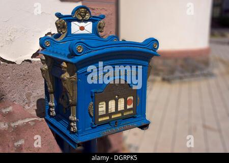 Historic postbox, Bad Liebenstein, Bad Liebenstein, Thuringia, Germany - Stock Photo