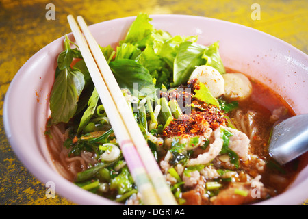 Noodles thai is very spicy - Stock Photo