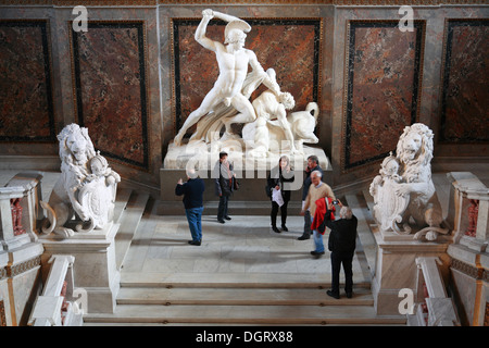 Kunsthistorisches Museum, Museum of Art History,  Statue of Theseus and Centaur, Main Stairway, Vienna, Austria, Europe