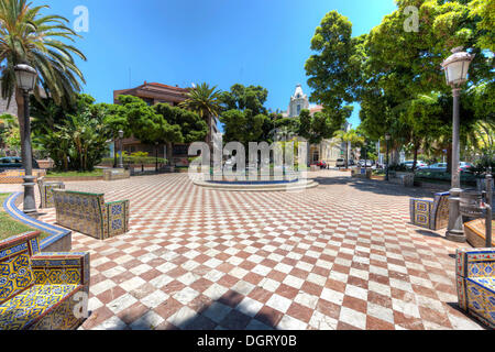 Canary islands spain ceramic tiles couple in typical canarian dress stock photo royalty free - Azulejos tenerife ...