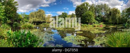 Water Lily Pond, Claude Monet Garden, Giverny, Departement Eure, Haute-Normandie, France - Stock Photo